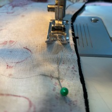 Stitch lining and fashion fabric right sides together